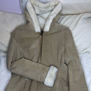 All weather coat with soft fur inside